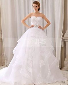 Cute fluffy wedding dress