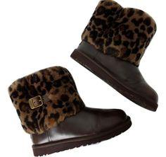 Nu in de #Catawiki veilingen: UGG 1003723k Girls Ellee Animal leather boots  - Enkellaarsjes
