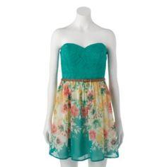 e589e1f75b3 Juniors  Trixxi Floral Lace Tube Dress. Kohls JuniorsKohls DressesTube  DressI ...