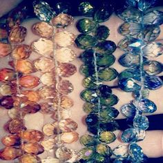 Crystal briolettes from the Hagerstown, MD bead store! http://www.potoamcbeads.com