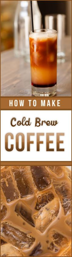 Homebrewing coffee PINNED times: Learn how to make cold brew. - Homebrewing coffee PINNED times: Learn how to make cold brew coffee with this s - Summer Drinks, Fun Drinks, Beverages, Smoothie Drinks, Smoothies, Making Cold Brew Coffee, Tasty, Yummy Food, Non Alcoholic Drinks