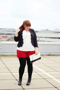 Plus Size Fashion - Plus Size Outfit - kathastrophal.de   Plus Size Outfit with Scallop Hem Shorts {What I Wore}