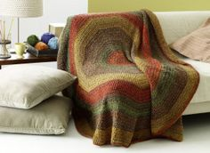 Stratford Circle Afghan - This is going to be so nice this winter.
