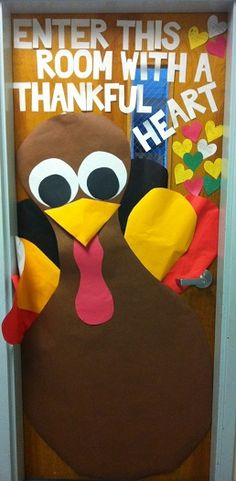 20 best ideas for thanksgiving door decorations classroom bulletin boards Thanksgiving Classroom Door, Fall Classroom Door, Thanksgiving Door Decorations, Thanksgiving Preschool, Fall Door Decorations, Class Decoration, Classroom Fun, Thanksgiving Turkey, Happy Thanksgiving
