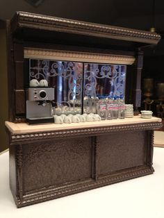 how to: coffee shop bar and counter (link to tutorial)