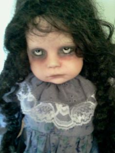 Madeline is a creepy, weird, spooky OOAK Reborn Horror Doll
