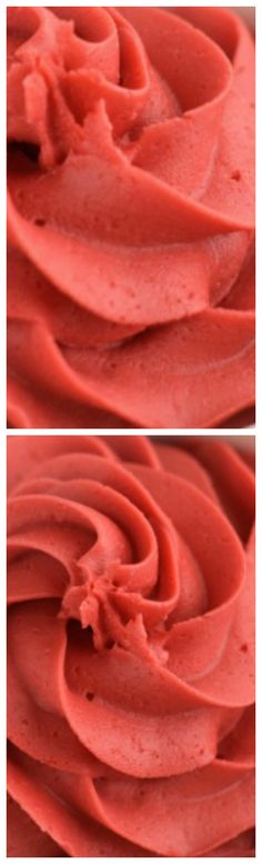 Red Velvet Buttercream Frosting ~ Rich, delicious, and perfect to top a cupcake . . . or spoon