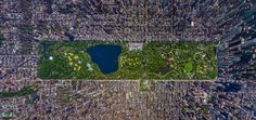 This is a digital Panorama of NYC, created by aerial shots from a helicopter.