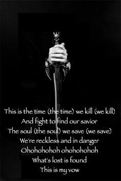 'My Vow' lyrics. Black Veil Brides. #BVB5 #VALE Made by CLong. Do not own image.