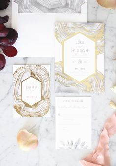 The secret to luxe wedding invitations? It's all in the detials.