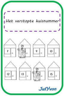 ©JufYvon: Het verstopte huisnummer Kids And Parenting, Holland, Letters, Math, Briefs, Dyscalculia, Sticker, Room Interior Design, Bedrooms