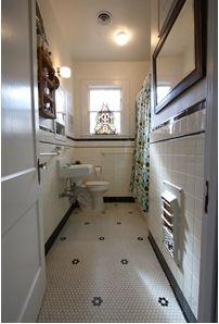 Pretty little bathroom tile pattern
