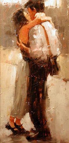 O Beijo - Pintura de Andre Kohn - Rússia