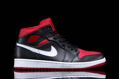 AIR JORDAN 1 MID (BLACK/GYM RED) | Sneaker Freaker