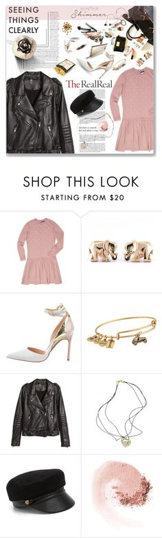 """Holiday Sparkle With The RealReal"" by monazor ❤ liked on Polyvore featuring Chanel, Cartier, Manolo Blahnik, Samsung, Alex and Ani, H&M, Roberto Coin, Eugenia Kim and NARS Cosmetics"