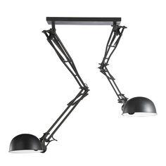 Schwenkbare Hängeleuchte NEWTON aus Metall, D 120cm, schwarz