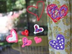 Make window clings with puffy paint