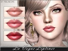 La Vogue Lipliner by Pralinesims - Sims 3 Downloads CC Caboodle Check more at http://customcontentcaboodle.com/la-vogue-lipliner-by-pralinesims/