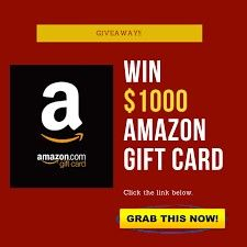 Get A Free 1000 Amazon Giftcard In 2021 Free Amazon Products Amazon Gift Card Free Amazon Gift Cards