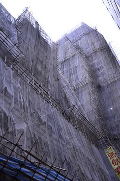 scaffolding in Hong Kong, August 2012