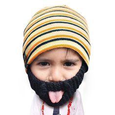 755f537479e Kid Huk. Beanie HatsKnit BeanieKnitted BeardBeard ...
