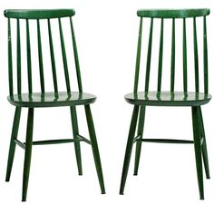 Pair of Green Tapiovaara Dining Chairs | From a unique collection of antique and modern chairs at https://www.1stdibs.com/furniture/seating/chairs/