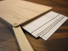 Slim wooden business card holder by Your Nest Inspired. Simple and beautifully crafted artisan product.