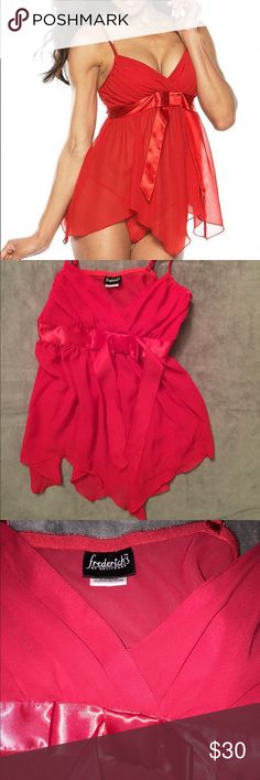 NWT FREDERICKS OF HOLLYWOOD LINGERIE BRAND NEW without tags LINGERIE. X-Small. Red, babydoll style. Made in the Philippines Frederick's of Hollywood Intimates & Sleepwear Chemises & Slips