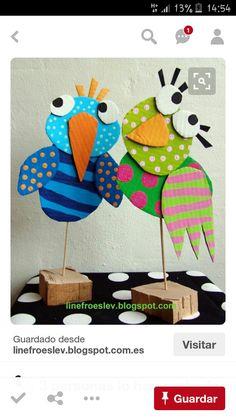Process Art Activities for Preschoolers: Over 20 art projects for kids using Process Art Activities for Preschoolers: Over 20 art projects for kids using tempera and watercolor paints! Bird Crafts, Animal Crafts, Fun Crafts, Crafts For Kids, Dinosaur Crafts Kids, Holiday Crafts, Cardboard Crafts, Paper Crafts, Paper Paper