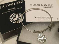 Alex-and-Ani-Alaska-Charm-Bangle-Rafaelian-Silver-Very-Rare purchased 7/25/16 !!