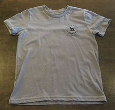Over & Under, Youth Old School Camo T-Shirt, Hurricane Grey, Medium