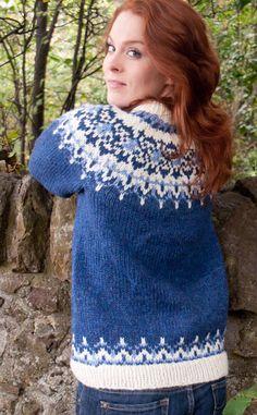 Ladies Luxury Hand-Knitted Icelandic Jersey, Odin by Scotweb Tartan Mill Fair Isle Knitting Patterns, Fair Isle Pattern, Handgestrickte Pullover, Icelandic Sweaters, Creative Knitting, Knitwear Fashion, Hand Knitted Sweaters, Cardigans For Women, Hand Knitting