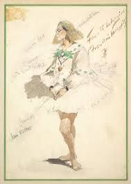 """Costume Design for """"Fourth Ballet Girl (Fraülein Hochspitz)"""""""