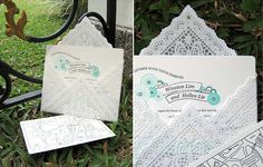 Envelope de toalha de papel rendada (doily)