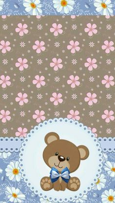 W..✿‿PHONE Great Pictures, Colorful Pictures, Cute Wallpapers, Wallpaper Backgrounds, Bear Wallpaper, Cute Teddy Bears, Bear Art, Kawaii Cute, Red Ribbon