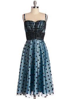 Some Kinda Wonderful Dress in Sky. Tonight, youll turn heads with this Stop Staring! #blue #prom #modcloth