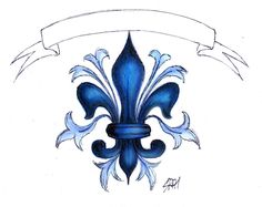 Fleur-de-Lys/ Lis Flower by malvawolf on DeviantArt Body Art Tattoos, Cool Tattoos, Tatoos, Awesome Tattoos, Wood Burning Patterns, New Orleans Saints, First Tattoo, Flower Tattoos, Amazing Art
