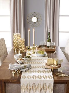 Neutral living room set up with gilded accessories // Nate Berkus for Target Fall/Holiday Collection