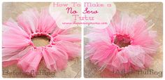 Easy No Sew Tutu Tutorial with lots of photos and detailed instructions!
