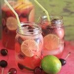 White Cherry, Lime, & Watermelon Sangria -- I'm not one for a lot of alcoholic beverages, but this one looks like it is worth trying!
