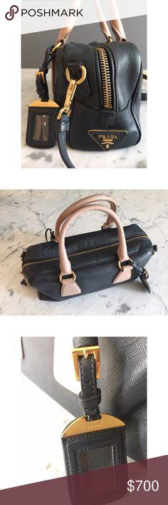 PRADA leader bag Original PRADA leader black and soft pink bag. Prada Bags Satchels