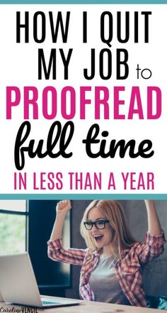 How to Make Money From Home as a Proofreader. Making money at home as a mom by proofreading. Easy way to start proofreading as a full time job for beginners to make extra money. Make money online jobs Make Money From Home, Way To Make Money, Make Money Online, I Quit My Job, Money Challenge, Proofreader, Save Money On Groceries, Marketing Program, Budgeting Finances