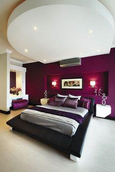 Purple Themed Master Bedroom Paint Color Ideas