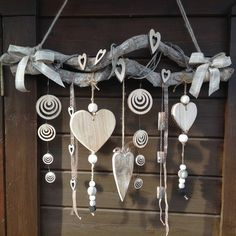 New Garden Art Ideas Wind Chimes Decor Ideas Beach Crafts, Diy And Crafts, Arts And Crafts, Carillons Diy, Christmas Crafts, Christmas Decorations, Xmas, Diy Wind Chimes, Creation Deco