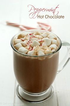 An out-of-this-world delicious peppermint hot chocolate recipe! Perfect way to warm up with and the whole family will love it! Ours did.