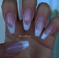 french nails for wedding Purple - french nails for weddin. french nails for wedding Purpl. French Manicure Acrylic Nails, French Tip Nails, Manicure And Pedicure, Gel Nails, White Tip Acrylic Nails, Nail French, Coffin Nails, Nails French Design, Black French Nails