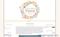 Fancy Free – 3 Columns super cute floral blogger template (free)