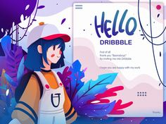 Hello Dribbble designed by yogi gustiana. Connect with them on Dribbble; Flat Design Illustration, Character Illustration, Digital Illustration, Graphic Illustration, Character Sketches, Web Design, Design Sites, Illustrator, Illustrations And Posters