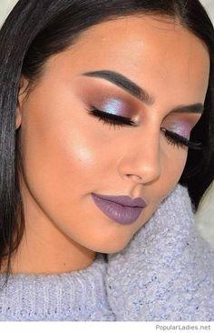 amazing-purple-makeup-eyes-and-lips