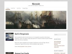 Skirmish is an elegant, responsive, two column WordPress theme. A great starting point for personal blogs.